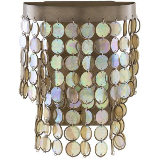 Carnival Antique Brass Iridescent Powder Coated Wall Sconce | Sconce | parker-gwen