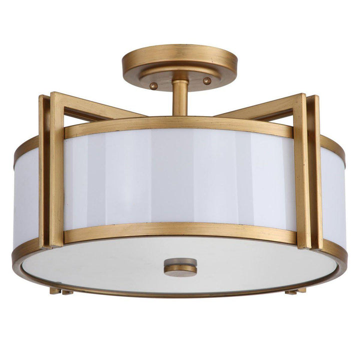 "Orb 17"" Antique Gold Ceiling Mount Light 