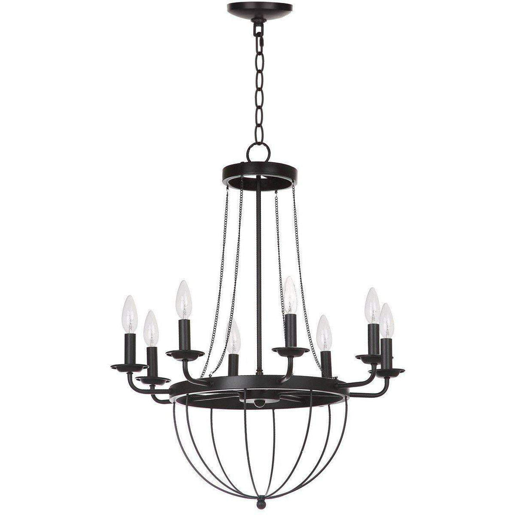 ABRHAM 8 LIGHT 23 DIA ADJUSTABLE CHANDELIER-Chandelier-Parker Gwen