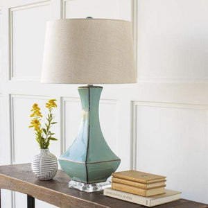 Belhaven Ceramic Table Lamp (Teal) - Parker Gwen
