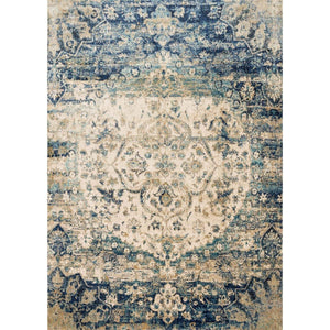 Anastasia Rug Collection: Multiple Sizes & Shapes - (Blue/Ivory) - Parker Gwen
