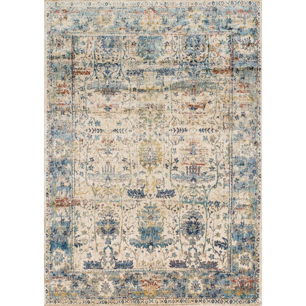 Loloi Anastasia Rug Collection - Sand/Light Blue - Parker Gwen