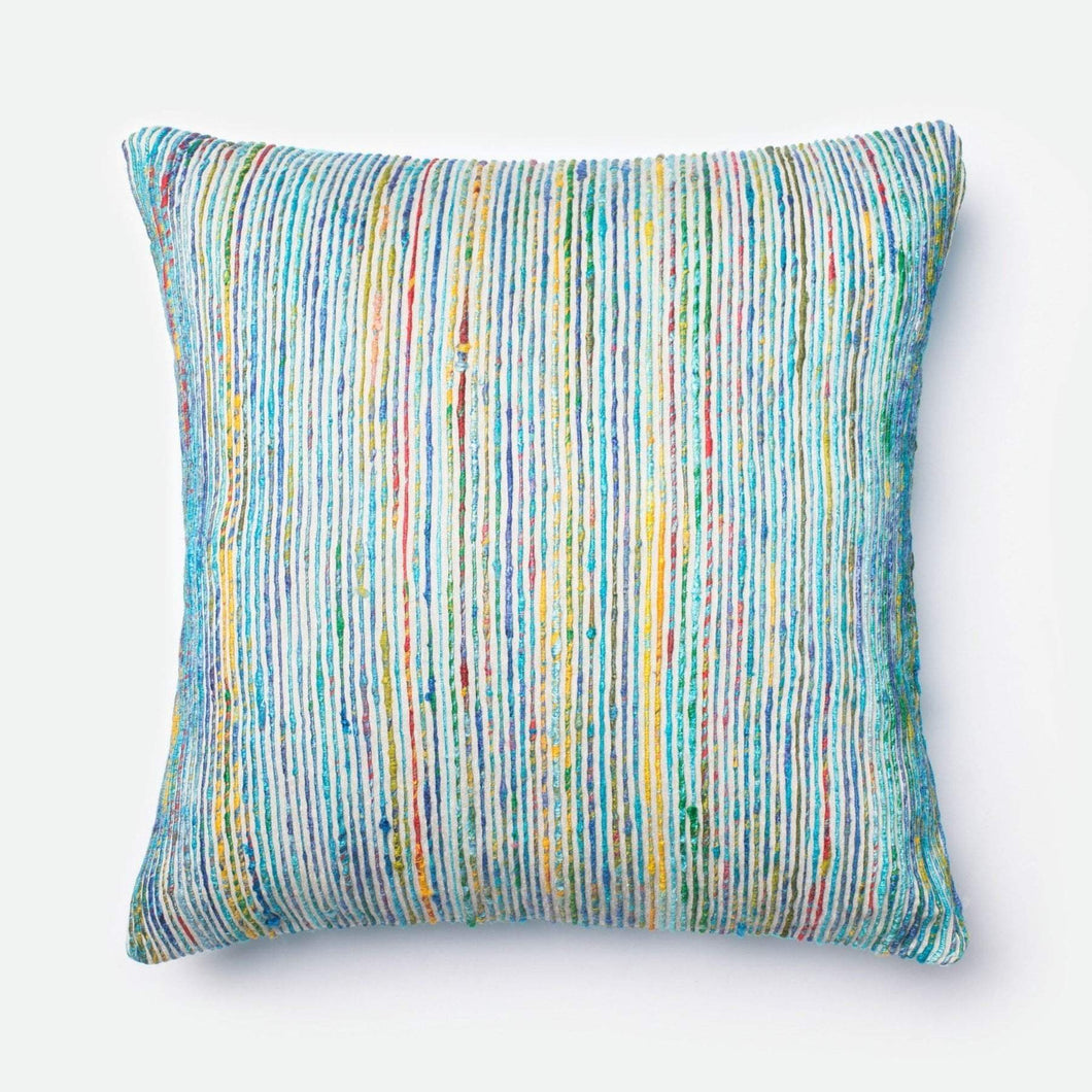 Loloi Dhurri Pillow Collection - Blue/Multi - Parker Gwen