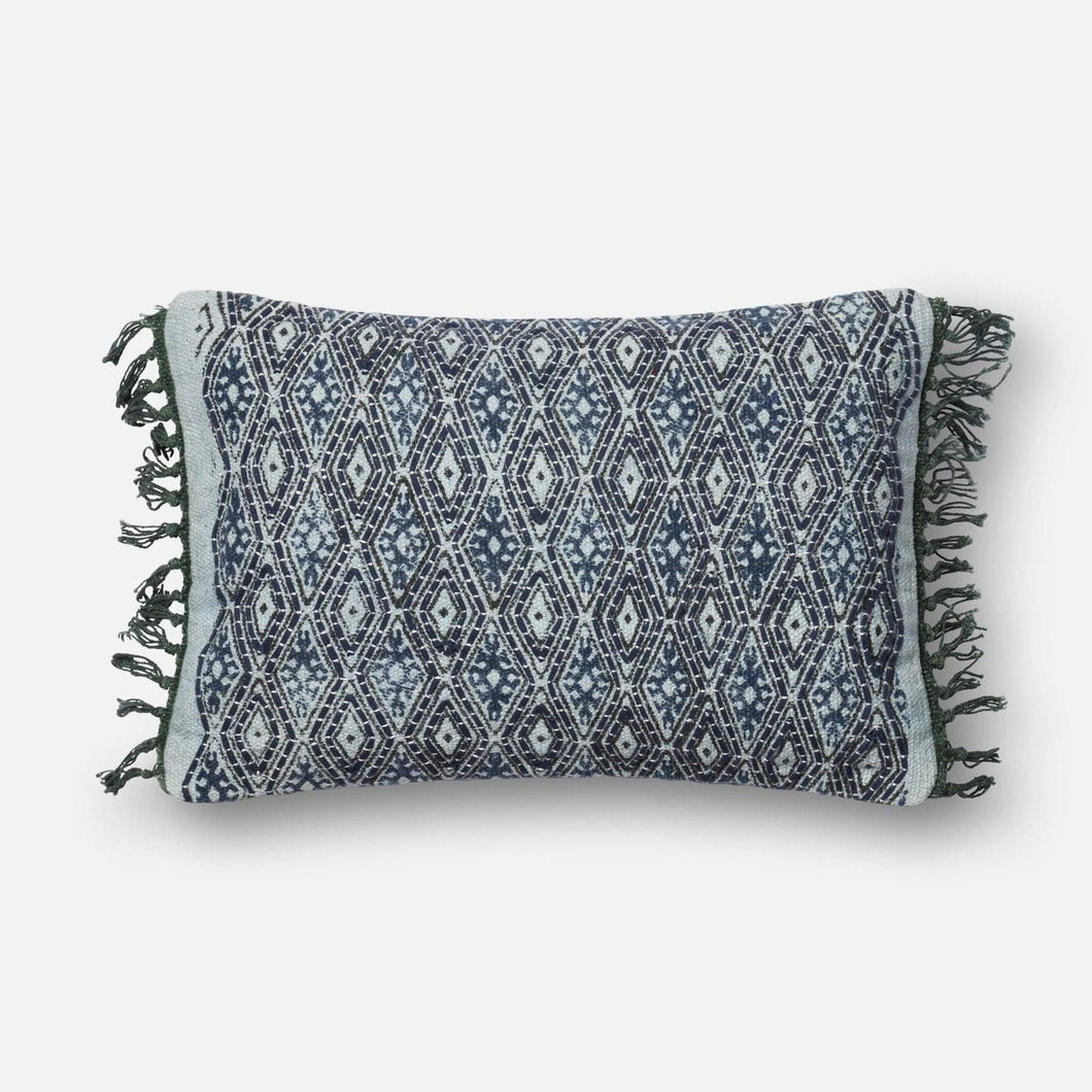 Loloi Embellished Pillow Collection - Blue/Grey-Pillow-Parker Gwen