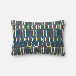 Loloi Embellished Pillow Collection - Blue/Multi-Pillow-Parker Gwen