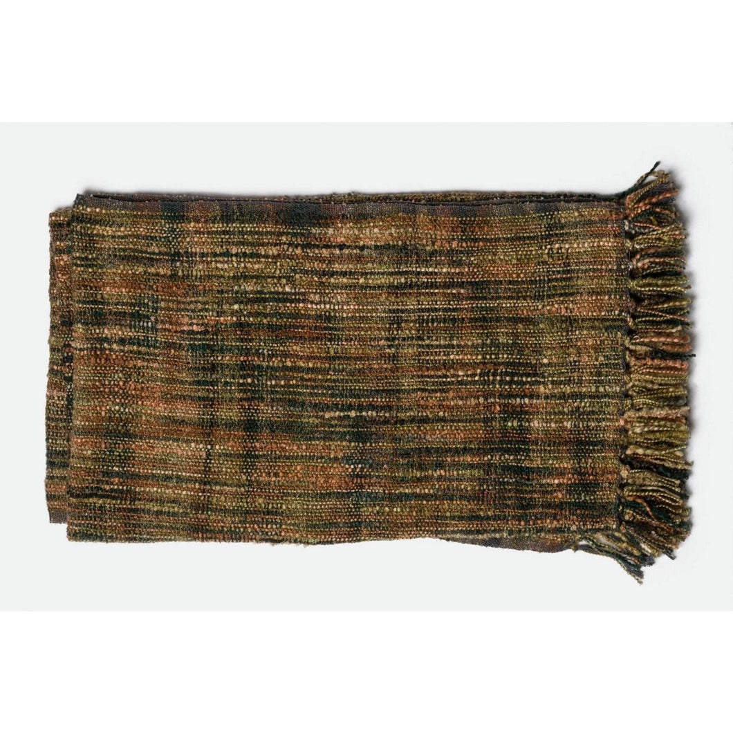Loloi Hana Throw - Green/Rust-Throw-Parker Gwen