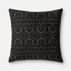 Loloi Indoor/Outdoor Pillow Collection - Black/Grey I - Parker Gwen
