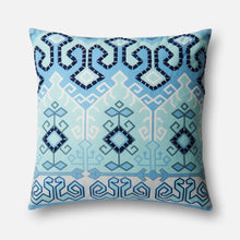 Loloi Indoor/Outdoor Pillow Collection - Blue/Multi-Outdoor Pillow-Parker Gwen