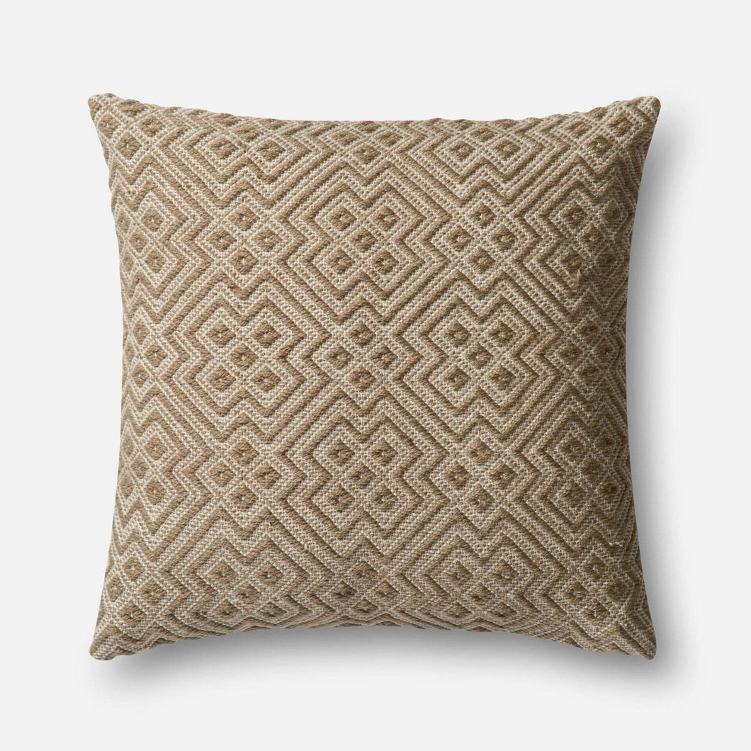 Loloi Indoor/Outdoor Pillow Collection - Charcoal/White-Outdoor Pillow-Parker Gwen