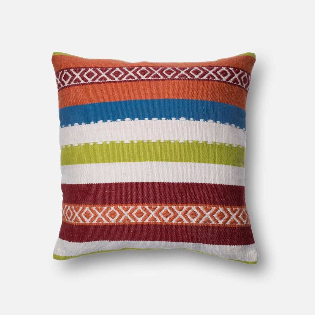Loloi Indoor/Outdoor Pillow Collection - Multi I-Outdoor Pillow-Parker Gwen