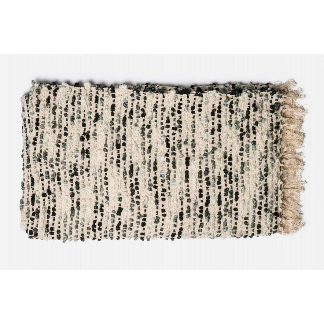 Loloi Lily Throw - Grey/Ivory-Throw-Parker Gwen