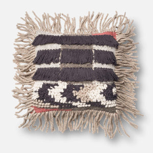 Loloi Throw Pillow - Grey/Multi I-Pillow-Parker Gwen
