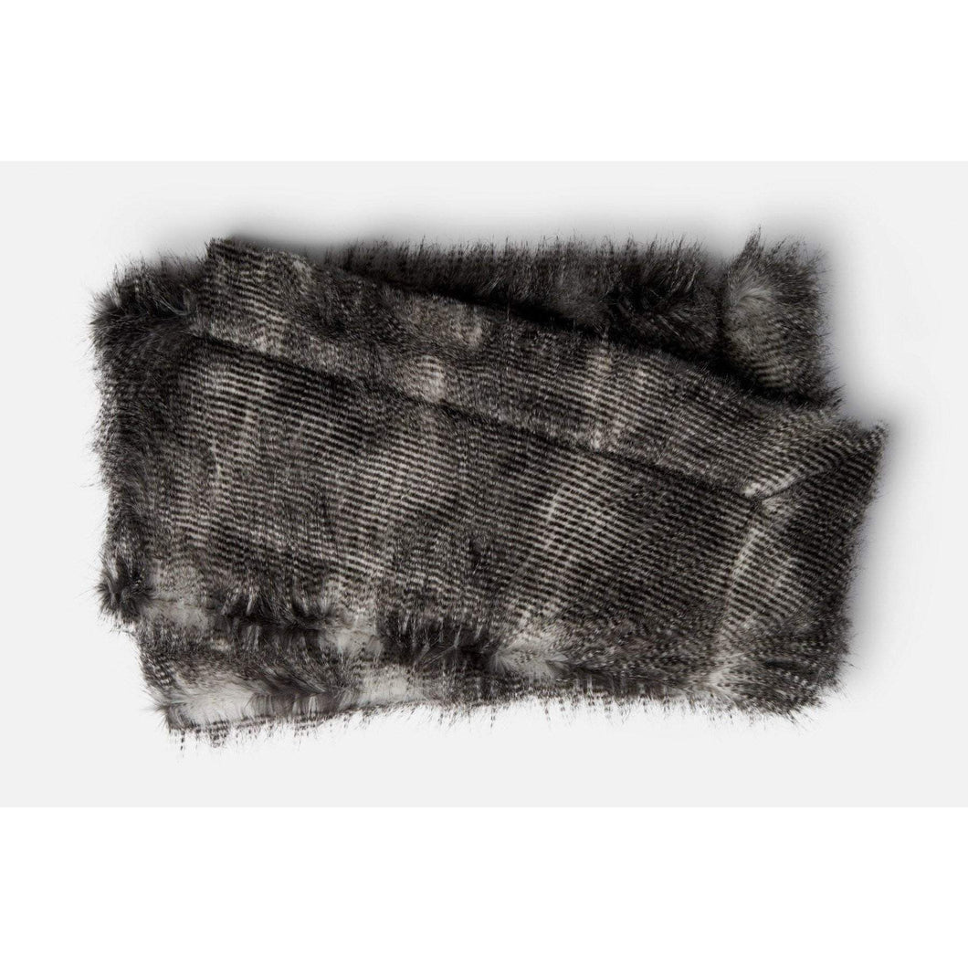 Loloi Zora Throw - Black/Grey-Throw-Parker Gwen