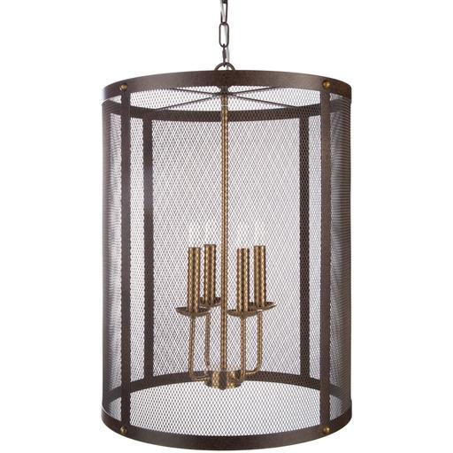 "Lombard 26.3""H x 18.5""W 4-Light Chandelier"