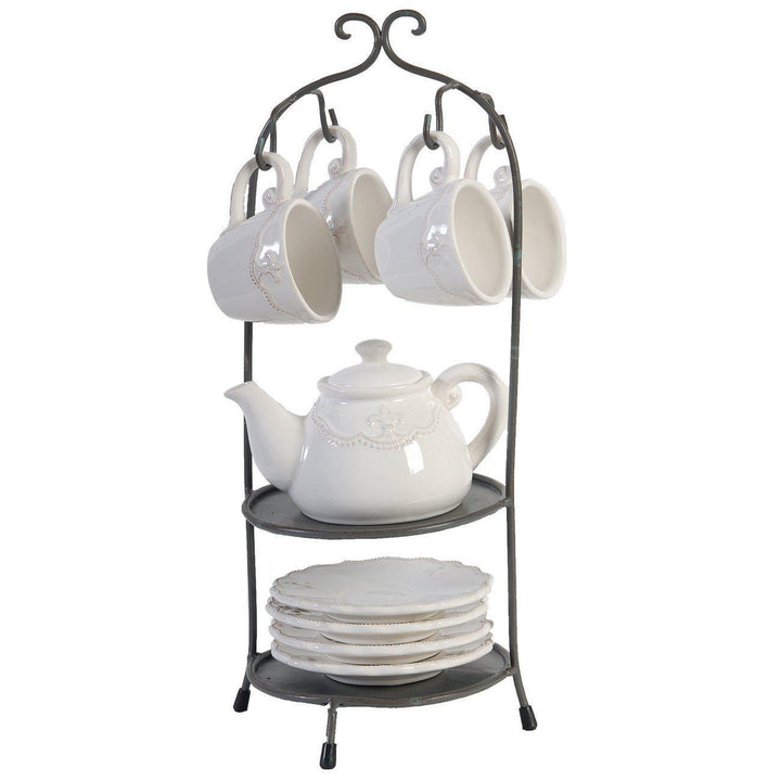Louis Fleur-de-lis Tea Set with Stand (10 Piece)-Coffee-Parker Gwen