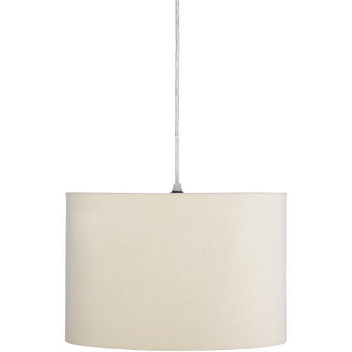 Lillian White Natural Finish Powder Coated Chandelier