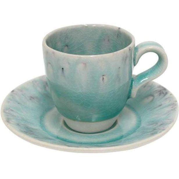 Madeira Coffee Cup and Saucer Set of 6 (Blue) - Parker Gwen