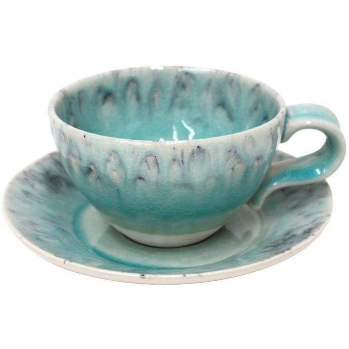 Madeira Tea Cup and Saucer Set of 6 (Blue) - Parker Gwen