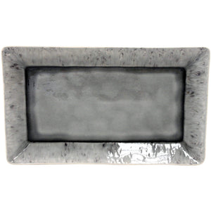 "Madeira 15.75"" Rectangular Tray (Grey) - Parker Gwen"