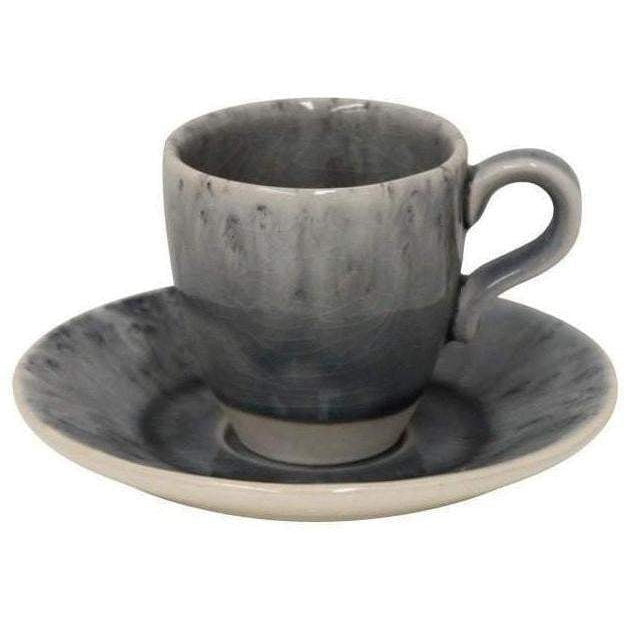 Madeira Coffee Cup and Saucer Set of 6 (Grey) - Parker Gwen