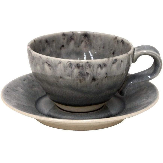 Madeira Tea Cup and Saucer Set of 6 (Grey) - Parker Gwen