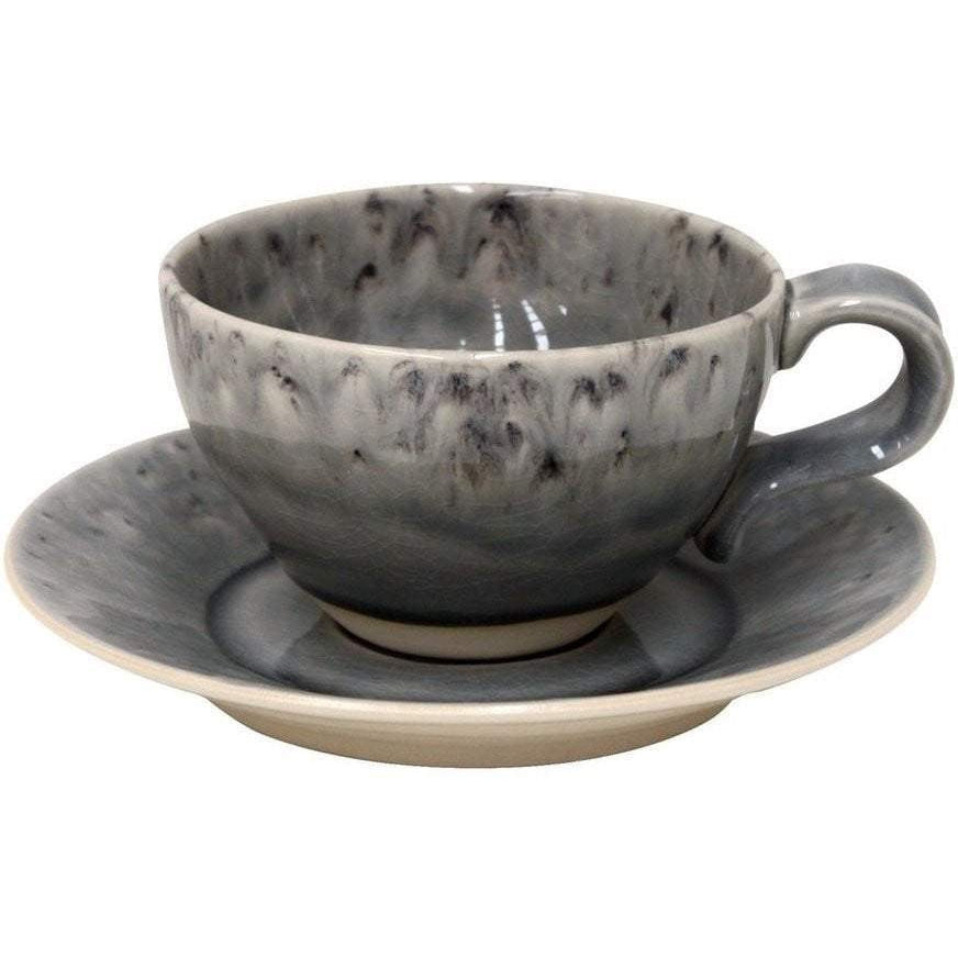 MADEIRA GREY TEA CUP & SAUCER (Set of 6)-Coffee-Parker Gwen