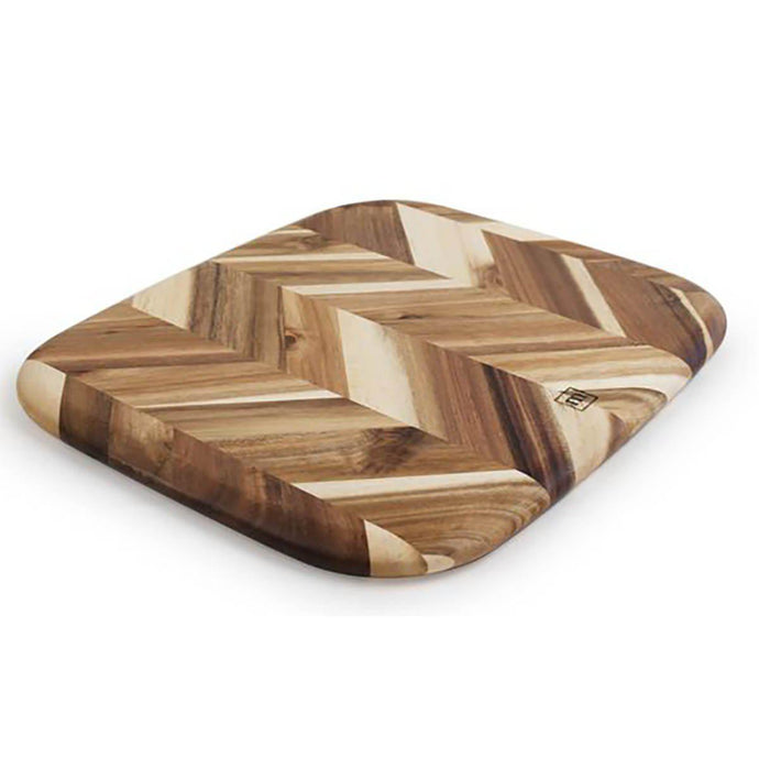 Madeira HERRINGBONE ACACIA Cutting BOARD: 12.5 X 14.5-Cutting Board-Parker Gwen