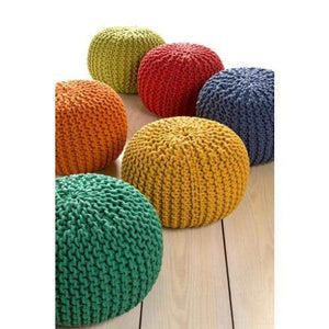 Malmo Knitted Cotton Pouf (Emerald) - Parker Gwen