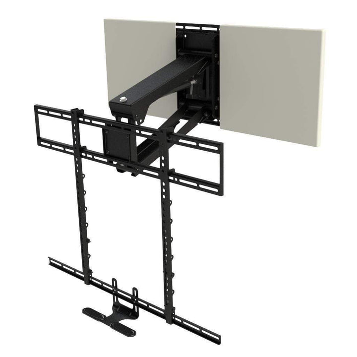 "MANTELMOUNT Pro Series PULL DOWN FIREPLACE TV MOUNT FOR 44""-90"" TVS (MM700)-TV Mount-Parker Gwen"