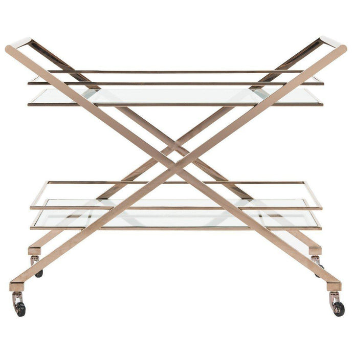 Marcelo Metal Bar Cart-Bar Cart-Parker Gwen