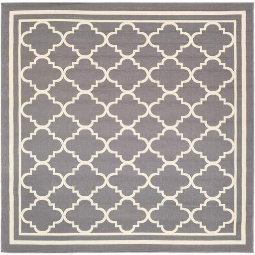 "Marina Indoor/Outdoor Area Rug Collection: 7'10"" Square-Indoor/outdoor-Parker Gwen"