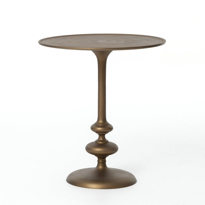 Matchstick Pedestal Table (Matte Brass) - Marlow Collection | Side Table | parker-gwen