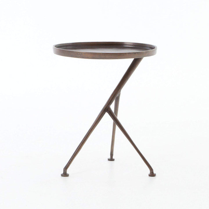Marlow Collection Schmidt Accent Table: Antique Rust-Accent Table-Parker Gwen