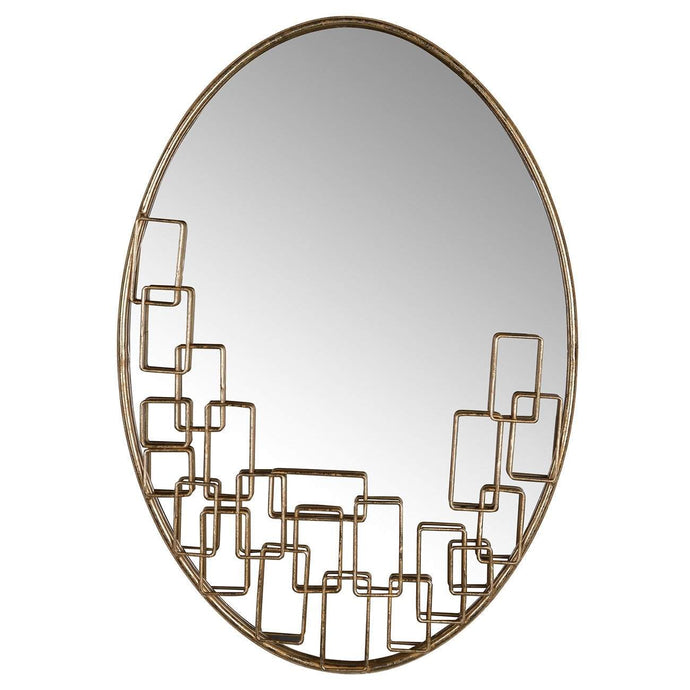 Maxime Oval Gold Mirror-Wall Mirror-Parker Gwen