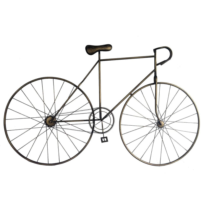 MCMILLAN BICYCLE WALL ART BRONZE-Wall Accent-Parker Gwen
