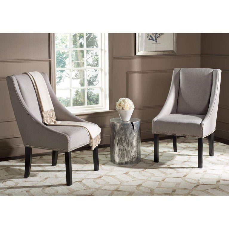 Morris Sloping Arm Dining Chair (Oyster) - Set of 2 - Parker Gwen