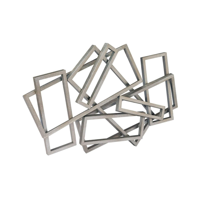 METAL RECTANGLES WALL DECOR-Wall Accent-Parker Gwen