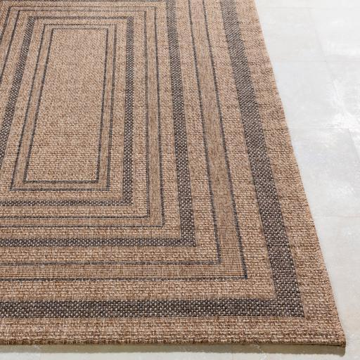 Marmaris Patterned Indoor/Outdoor Rug Collection - 3 Sizes (Brown)-Indoor/outdoor-Parker Gwen