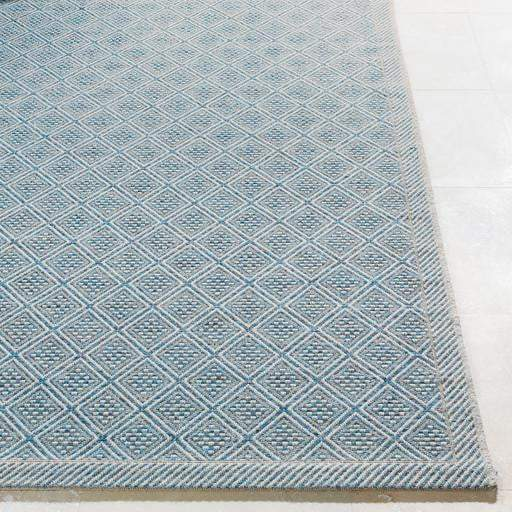 Marmaris Cube Indoor/Outdoor Rug Collection - 3 Sizes (Sky Blue/Gray) - Parker Gwen