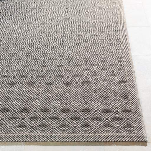 Marmaris Cube Indoor/Outdoor Rug Collection - 3 Sizes (Gray)-Indoor/outdoor-Parker Gwen
