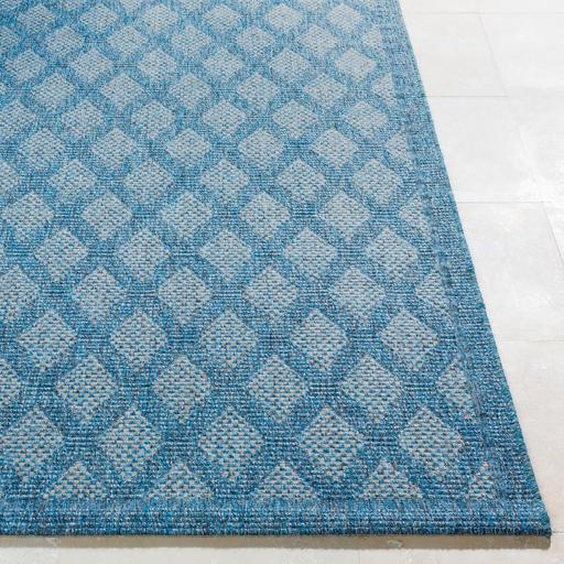 Marmaris Diamond Indoor/Outdoor Rug Collection - 3 Sizes ( Blue)-Indoor/outdoor-Parker Gwen
