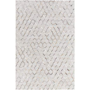 Medora Viscose & Hide Rug: Multiple Sizes (Silver) - Parker Gwen