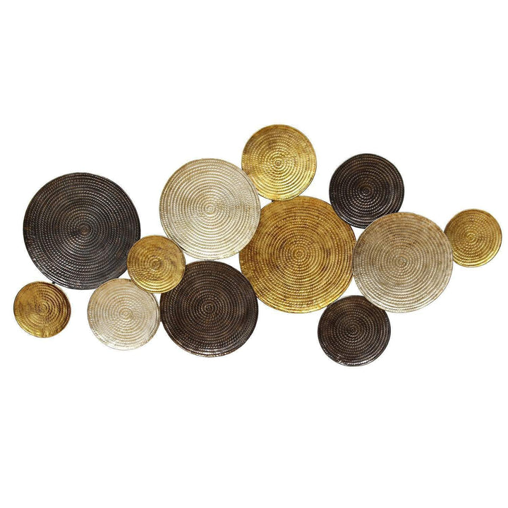 Multi Circles Gold, Copper, Silver Wall Décor-Wall Accent-Parker Gwen