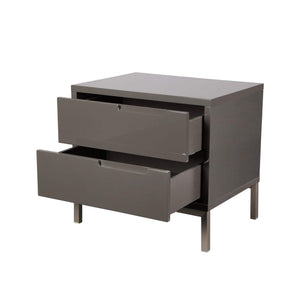 NAPLES SIDE TABLE GREY-Nightstand-Parker Gwen