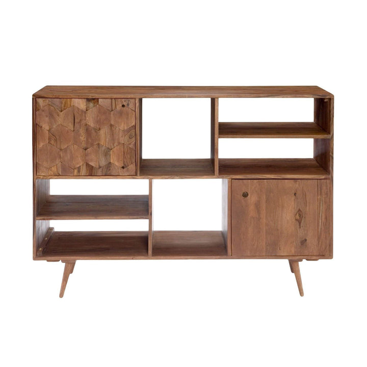 O2 Retro Modern Sheesham wood Bookcase - Parker Gwen