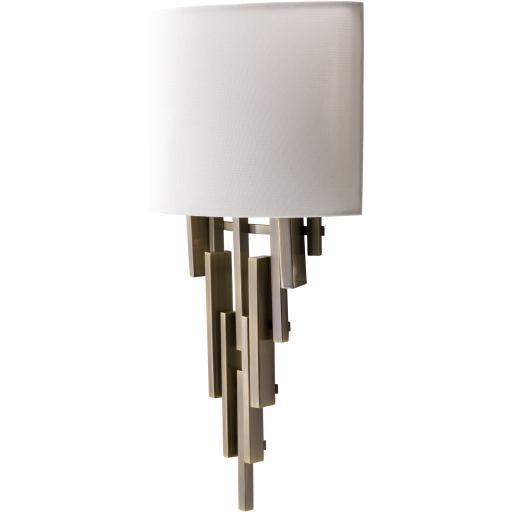 Olivia Antique Brass Brushed Metal Wall Sconce