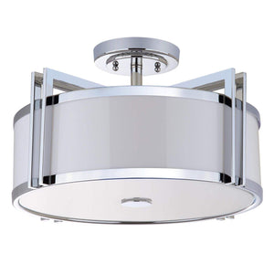 Orb 3 Light Chrome 17-Inch Dia Semi Flush - Parker Gwen