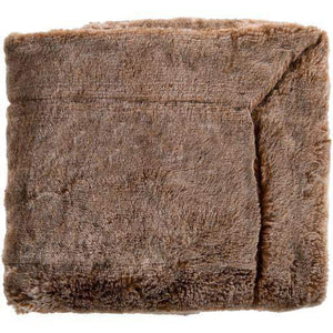 "Otso Faux Fur Throw Blanket 50"" x 60"" (Brown) - Parker Gwen"