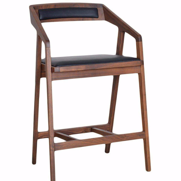 Padma Walnut Mid-Century Bar or Counter Stool - Parker Gwen