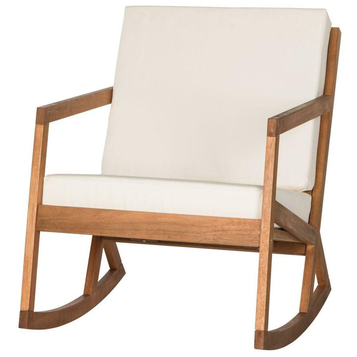 The Hank Outdoor Cushioned Rocking Chair (Natural/Beige) | Outdoor Lounging | parker-gwen